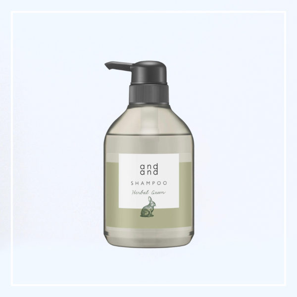 andand(アンドアンド)シャンプー静かに【ハーバルグリーンの香り】画像